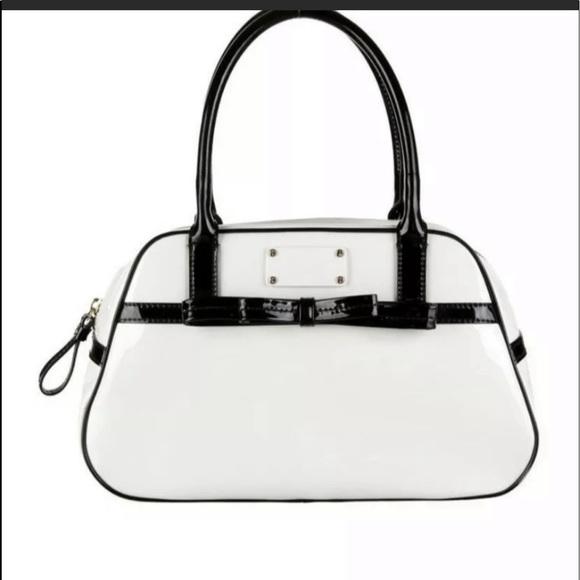 Kate Spade White Patent Leather Simone Satchel